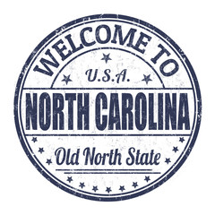 Welcome to North Carolina stamp