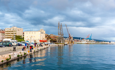 View of Rijeka port in Croatia