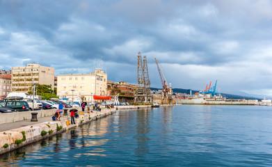 View of Rijeka port in Croatia