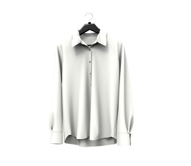 White long sleeve shirt on white background.