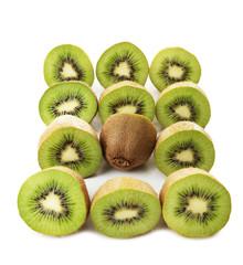 Juicy kiwi isolated on white