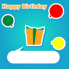 illuatration of birthday background