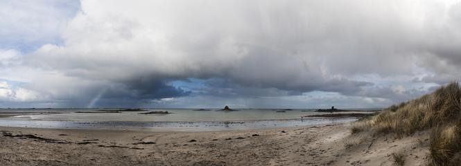 Stromy beach in France