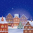 Christmas night town