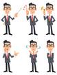 眼鏡をかけたスーツの男性(正面向き)