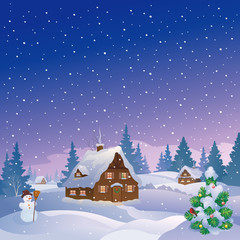 Xmas night village
