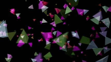 三角背景パーティクル