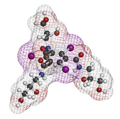 Iohexol contrast agent molecule.