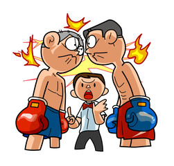 Boxing-Spark of fighting spirit