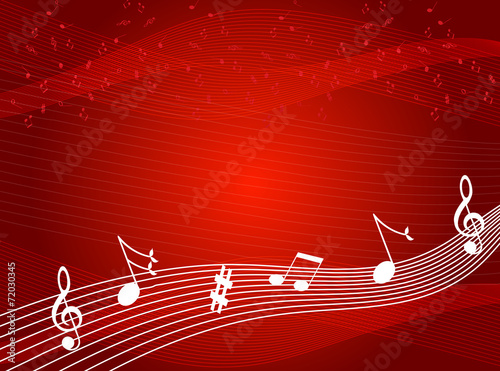 Music notes background - 72030345