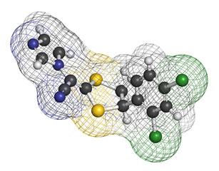 Luliconazole antifungal drug molecule.
