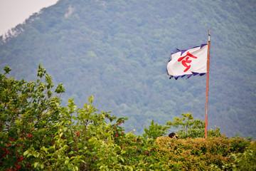깃발 하나