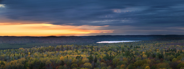 Fall sunset in wilderness