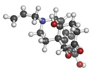 Naloxone opioid receptor antagonist.
