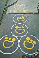 Funny Hopscotch (Footprints)