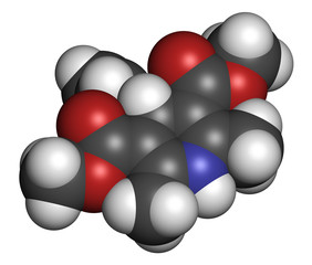 Nifedipine calcium channel blocker drug.