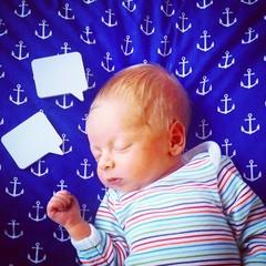 Talk baby ask speech bubble