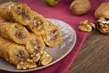 Turkish traditional ramadan pastry dessert