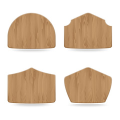 Shapes wooden sign boards