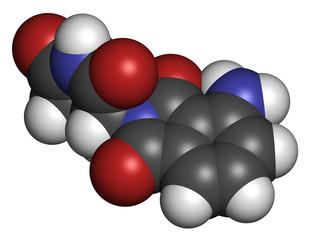 Pomalidomide multiple myeloma drug molecule.