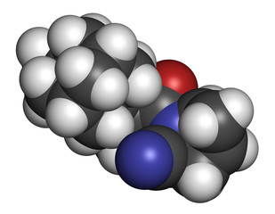 Saxagliptin diabetes drug molecule.