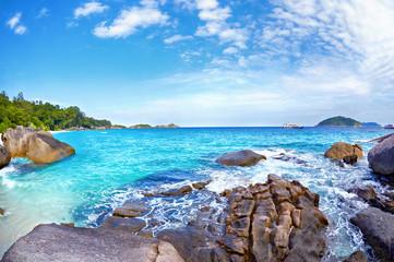 Boulders and ocean