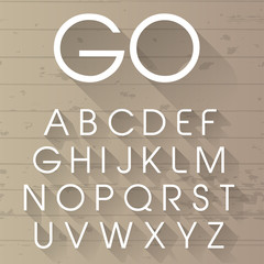 Vector long shadow alphabet