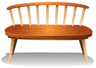 A wooden chair furniture
