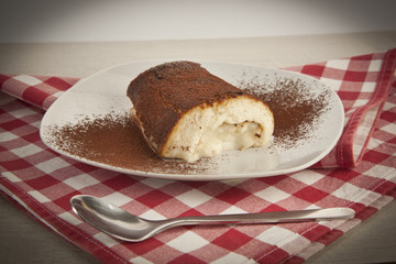 Kazandibi milk baked pudding, Turkish dessert