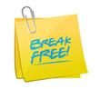 break free memo post illustration