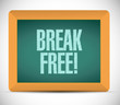 break free message sign illustration