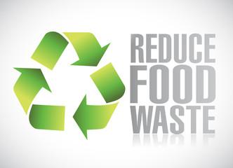 reduce food waste sign illustration