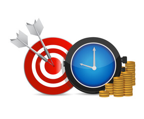 target coins and watch illustration