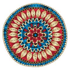 Mandala. Round Ornament Doodle Pattern.