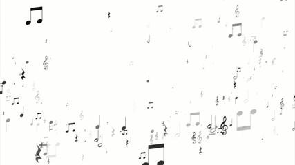 音符飛び散る