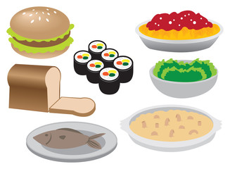 Illustration of Different Food Icons