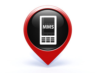 mms pointer icon on white background