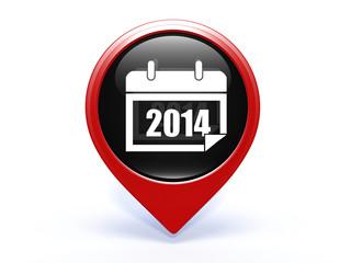 calendar pointer icon on white background
