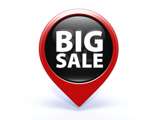 Big sale pointer icon on white background