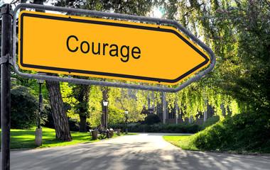 Strassenschild 25 - Courage