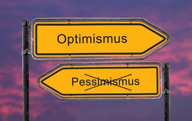 Strassenschild 22 - Optimismus