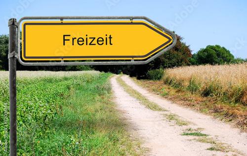 canvas print picture Strassenschild 21 - Freizeit