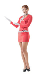 Asian flight attendant