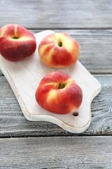 flat peach on a white board