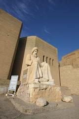 Status at the entrance of Erbil Citadel, Iraq