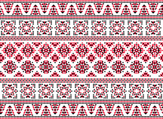 Seamless ornament in the Ukrainian style.