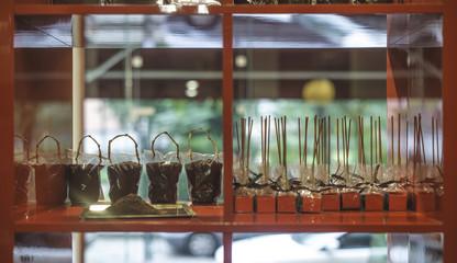 Cocoa powder in a store