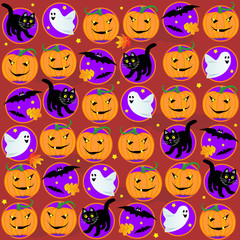 Seamless Halloween background or pattern