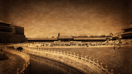Forbidden City in Vintage Style