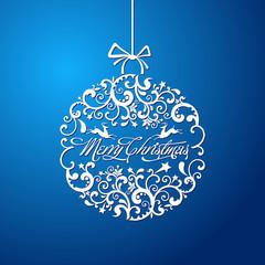 Christmas ball, Christmas tree decorations. vector.